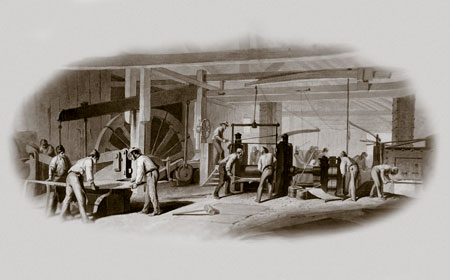Photograph: Brandywine Iron Works & Nail Factory — National Iron & Steel Heritage Museum