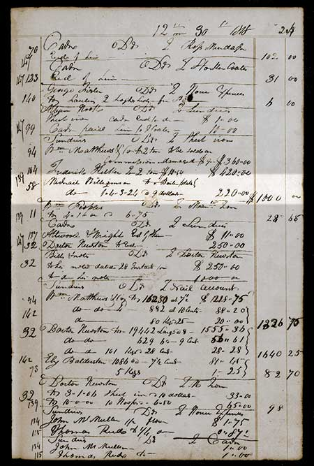 An entry in Dr. Lukens' ledger shows the first verifiable boiler plate entry in December 1818. The Brandywine Rolling Mill was the first mill to roll boiler plate in America.