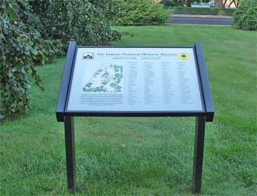 Graystone Mansion grounds sign