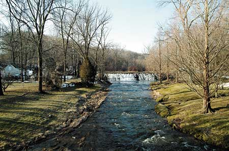 Buck Run, a tributary of the Brandywine River supported several mills.