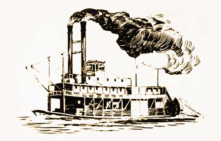 Steamships and locomotives were the primary markets for iron boiler plate.