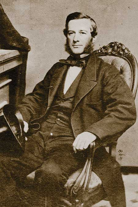 Dr. Charles Huston (b. 1822; d. 1897) about 1850. Proprietor of Lukens Rolling Mills.