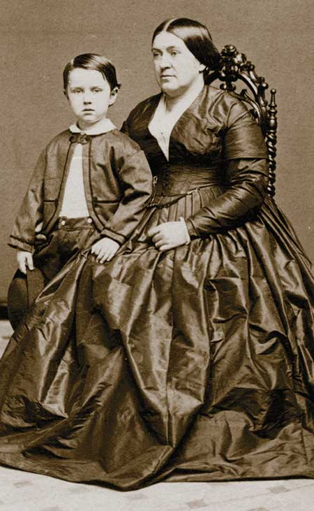 Isabella Lukens Huston (b. 1822; d. 1889) with her second son, Charles Lukens Huston, about 1863.