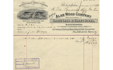 1890 Order Receipt, From the collection of NISHM