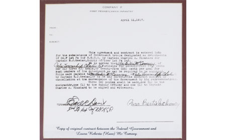 Contract between the Federal Government and Laura Roberta McComsey