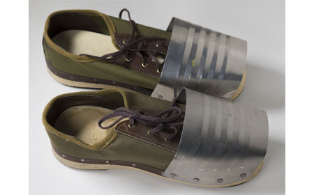 Wood Sole Shoes with Toe Guards, From the collection of NISHM