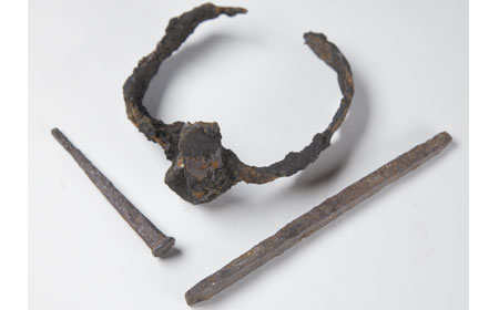 Iron Nails and Banding, From the collection of NISHM
