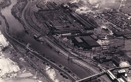 Aerial View of Bethlehem Site, 1932, Hagley Museum  and Library