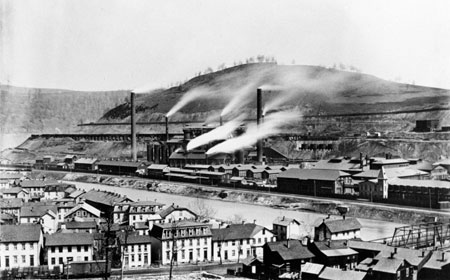 Cambria Blast Furnaces In Operation, Late 1800s, Hagley Museum and Library