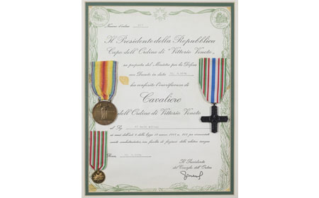 Certificates Awarded To Nicola DiMaio — In 1972, the Italian government contacted Nicola in Coatesville and awarded him his medals. — Courtesy of Robert Coulter