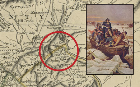Pennsylvania Map Published 1775, Washington Crossing The Delaware, Library of Congress
