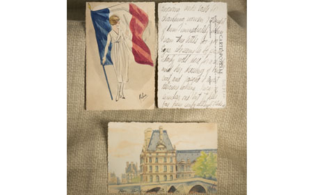 French Postcards — These three postcards were sent from Stewat Huston to his family at home. — National Iron & Steel Heritage Museum