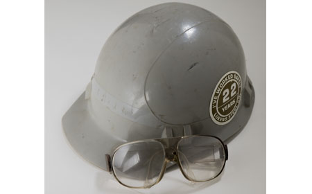 Hard Hat & Safety Glasses, From the collection of NISHM
