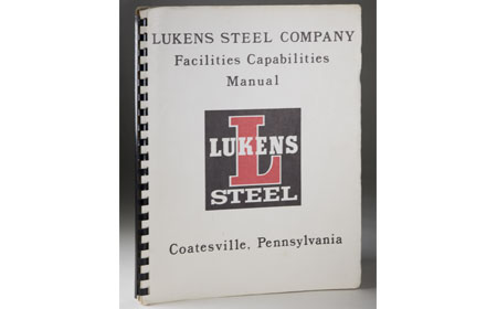 Lukens Capabilities Manual, From the collection of NISHM
