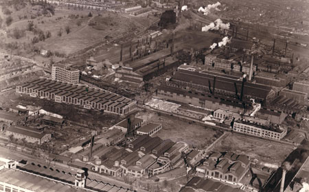 Aerial View of Midvale Steel, 1927, Hagley Museum and Library
