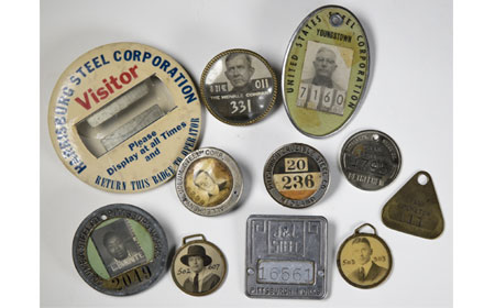 Pennsylvania Steel Company Identification Badges, From the collection of NISHM