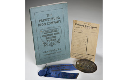 1916 Specifications Book, 1919 Pay Envelope, Time Check Badge, Ribbob/Badge: Institute of Production Engineers. July 1922, From the collection of Gerry Treadway