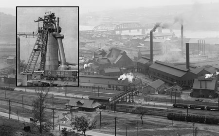 Aerial View and Blast Furnace, c1905, Library of Congress