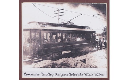 Commuter Trolley that paralleled the Mail Line