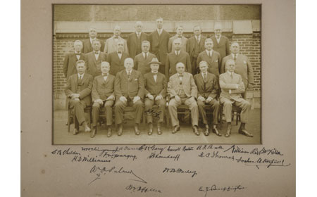 1901 Signed Photograph of US Steel Executives, From the collection of NISHM