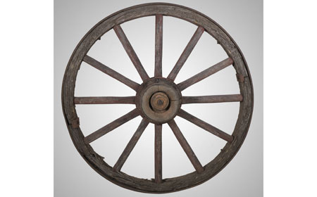 Wagon Wheel Rimmed with Iron, From the collection of NISHM