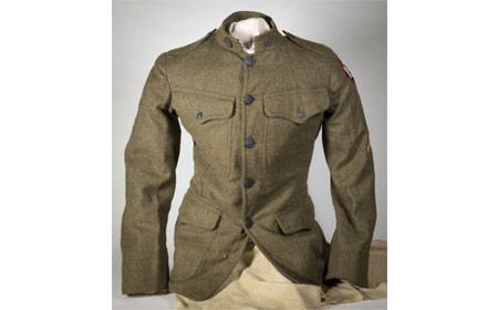 Uniform tunic coat worn by Russell Wilson. — Courtesy of Bob Ford