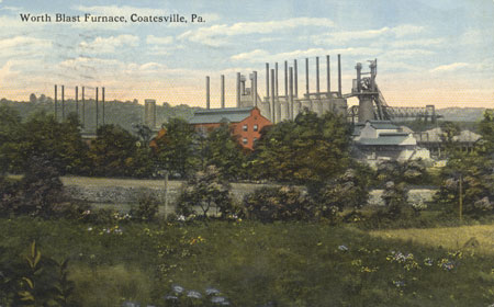 Blast Furnace Postcard,  From the collection of NISHM